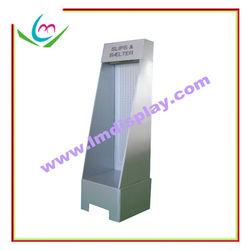 Floor stand single side corrugated cardboard peg hook display