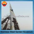 estrutura de aço aço escultura do jardim