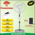 """Cr-8418r decorativa ventilador carrinho carregado pelo painel solar 18"""""""