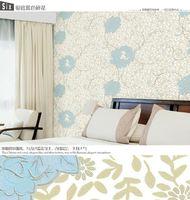 very strong 3d feeling wallcovering/floral wallpaper bamboo wallcovering kontrakt mobeltyg