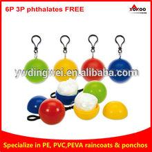 Custom Logo Printed Promotional High Quality Custom Disposable Ball Poncho