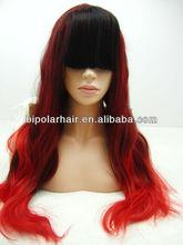 Qingdao wholesale new fashion style ombre kanekalon synthetic wig