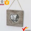 colgante corazón el amor oxidado de madera de abedul marcos de fotos