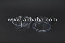 80ml 3 oz PVC Disposable Plastic Sauce Cup