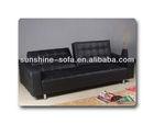 Armrest Convertible Leather Sofa Cum Bed Furniture