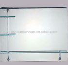plain design glass mirror with stainless steel bracket