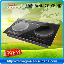 2014 commercial double wok hi-light hob easy to clean tasty dinner