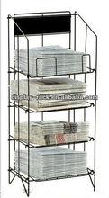 white newspaper display rack HSX-S828 magazine rack newspaper display