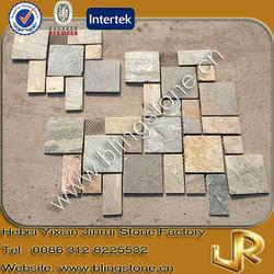 Cream slate puzzled paving stone
