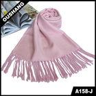 A158 Ladies Solid Color Scarf Jacquard Scarves Plain scarf