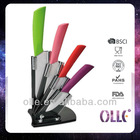 Kitchen Colorful Handle Ceramic Cutlery Knife Set