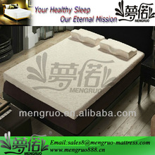 MR-FF07 vacuum pack memory foam mattress topper with velure fabric removable cover