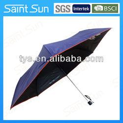 Purple UV protect 3 folding super thin umbrella
