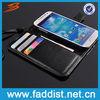 Black Flip Wallet Leather Case Cover for Samsung s4