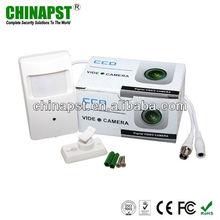 "White 1/3"" Sony 420TVL Color PIR Hidden Pinhole CCTV Equipment PST-HC101B"