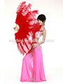 2014 espectáculo de danza del vientre grande azul pluma para para mujer del bailarín ( DJ1003 )
