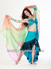 2014 belly dance mermaid dresses, belly dance wear for girl arabic carnival stage performance wear China Wuchieal QC2072