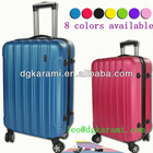 3pcs set hard shell luggage, stock abs/pc trolley suitcase factory 2014