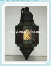 Colorful Moroccan lantern LED lantern candle holder hurricane