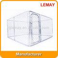 al aire libre 10x10x6ft galvanizado eslabón de la cadena extra grande de la jaula del perro
