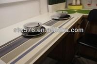 2014 textile fabric dinner table runner/plastic mat