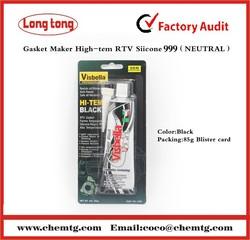 Acetic High temperature resisitant Black RTV SILICONE for Car