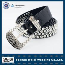 foshan weisi wholesale fashion black beaded belt