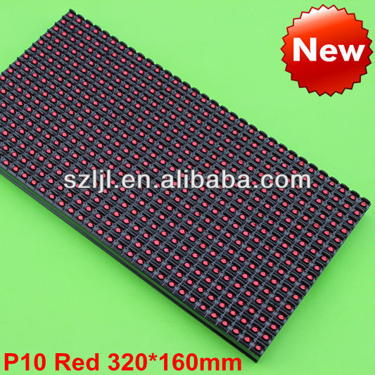 Outdoor P10 LED Display Module Red 32x16 Dots Waterproof(CE&RoHS Approval)