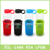 Fashional design with Neoprene sleeve glass bottle