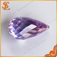 Factory Price loose cz high quality Violet FANCY/CLUB cz gemstone