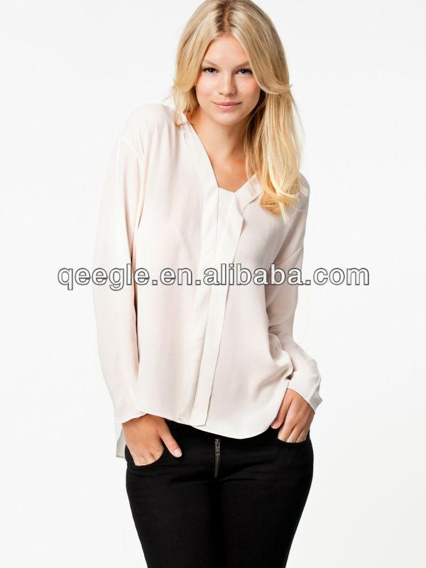 Women'S Trendy White Shirts Blouses 56