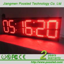digital led clock display \ time humidity billboard panel \ led humidity time display