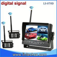 Easy install digital signal 7'' wireless wireless Crane dual camera reversing system