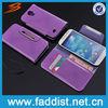 Wallet cell phone case for s4 i9500 flip case