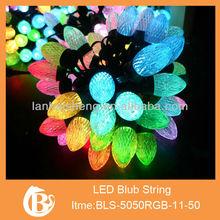 Holiday led cover string lights, led string bulb