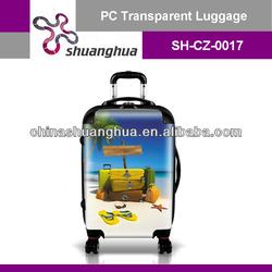 fashionable carry-on pc coating luggage