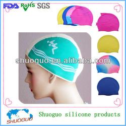 wholesale/bulk figure women silicone swim fashion hat/caps