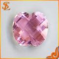 Wuzhou caliente de la venta de la fábrica al por mayor de alta calidad de color rosa de apple de lujo/2tu piedra de la cz