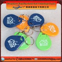 125KHz Waterproof ABS material custom NFC RFID Keytag