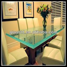 glass top wood base coffee table