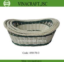 Oval rattan basket for fruit