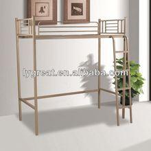 Furniture designs double white antique brass storage metal bed
