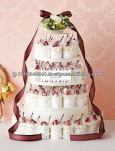 Decorative wedding towel cake for wedding birthday party
