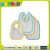 cheap promotion waterproof plain white terry cotton baby bib plastic back