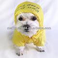 amarillo duradero campana impermeable transpirable impermeable para perros