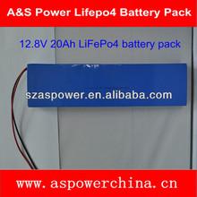 Rechargable LiFePo4 lithium battery pack 12v 20ah battery