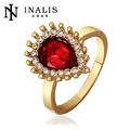 encantadora mezcla de estilos rubí oro 18k uno de la galjanoplastia anillo de piedra los diseños