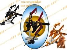 Aftermarket Motorcycle CNC Rearset Rear Set Front Foot Peg Foot Rest for 2003 04 05 06 07 08 09 10 11 12 CBR600RR F5 Gold Black