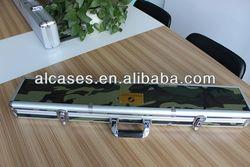 Aluminum gun case, aluminum fishing case, aluminum instrument case
