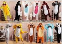 hot sale new adult animal pajamas costume plush onesie